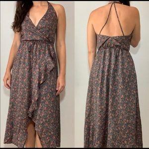 Floral halter dress Sz: Large